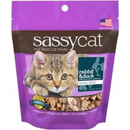 Herbsmith Sassy Cat Rabbit & Duck with Broccoli & Cranberry Freeze-Dried Cat Treats, 1.25-oz bag
