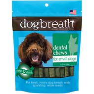 Herbsmith Dog Breath Dental Treats for Small Dogs, 30 count