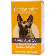 Herbsmith Herbal Blends Clear AllerQi Tablets Dog & Cat Supplement, 270 count