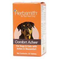 Herbsmith Herbal Blends Comfort Aches Tablets Dog & Cat Supplement, 20 count
