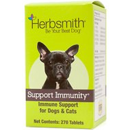 Herbsmith Herbal Blends Support Immunity Tablets Dog & Cat Supplement, 270 count