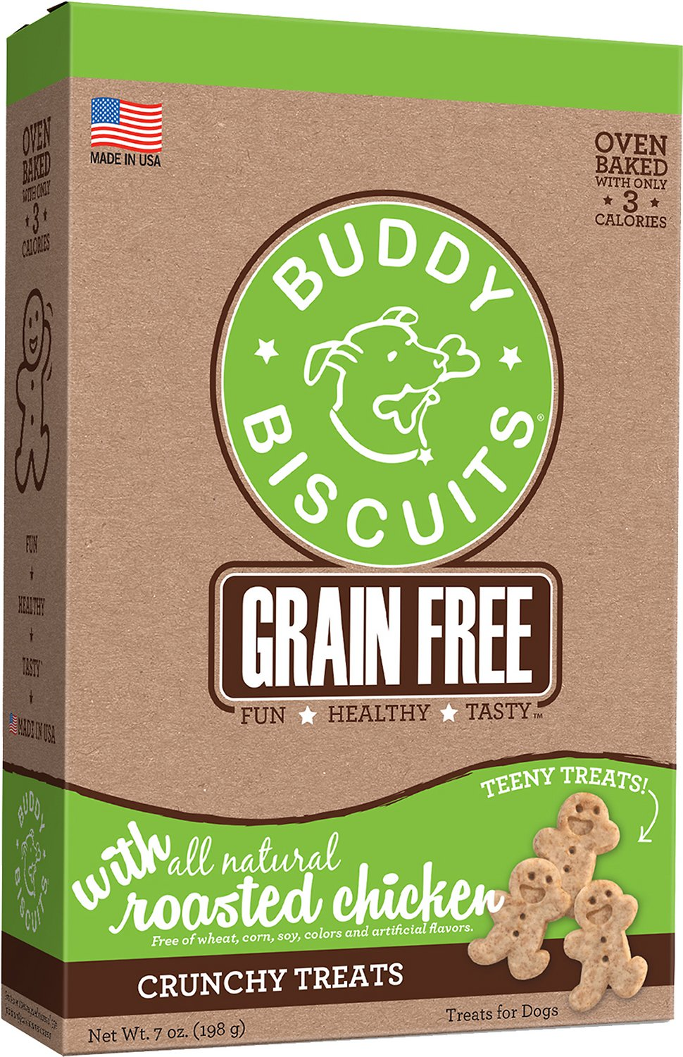 Made in USA Only Training or Snack Size Soft /& Chewy Treats for Small /& Large Dogs Buddy Biscuits