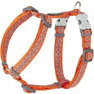 Red Dingo Designer Snake Eyes Dog Harness, Orange, Small