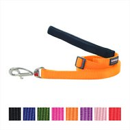 Red Dingo Classic Adjustable Dog Leash, Orange, Small