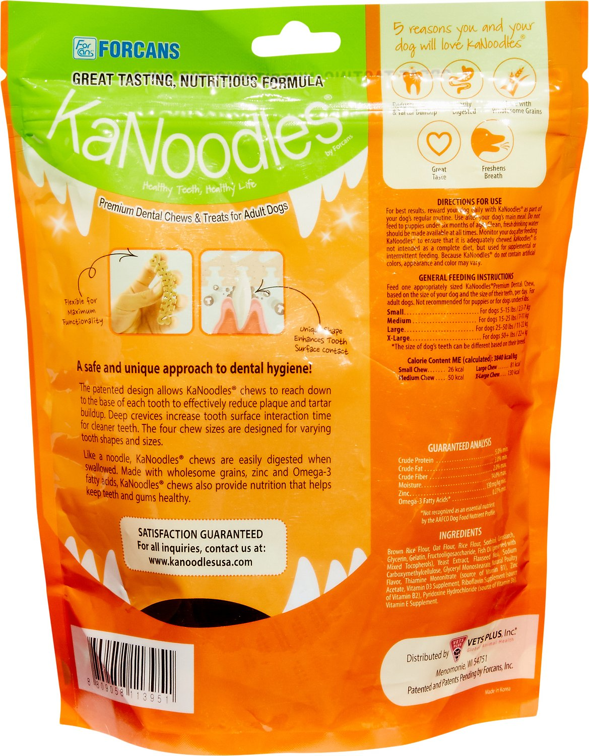 KaNoodles X-Large Premium Dental Chews Adult Dog Treats