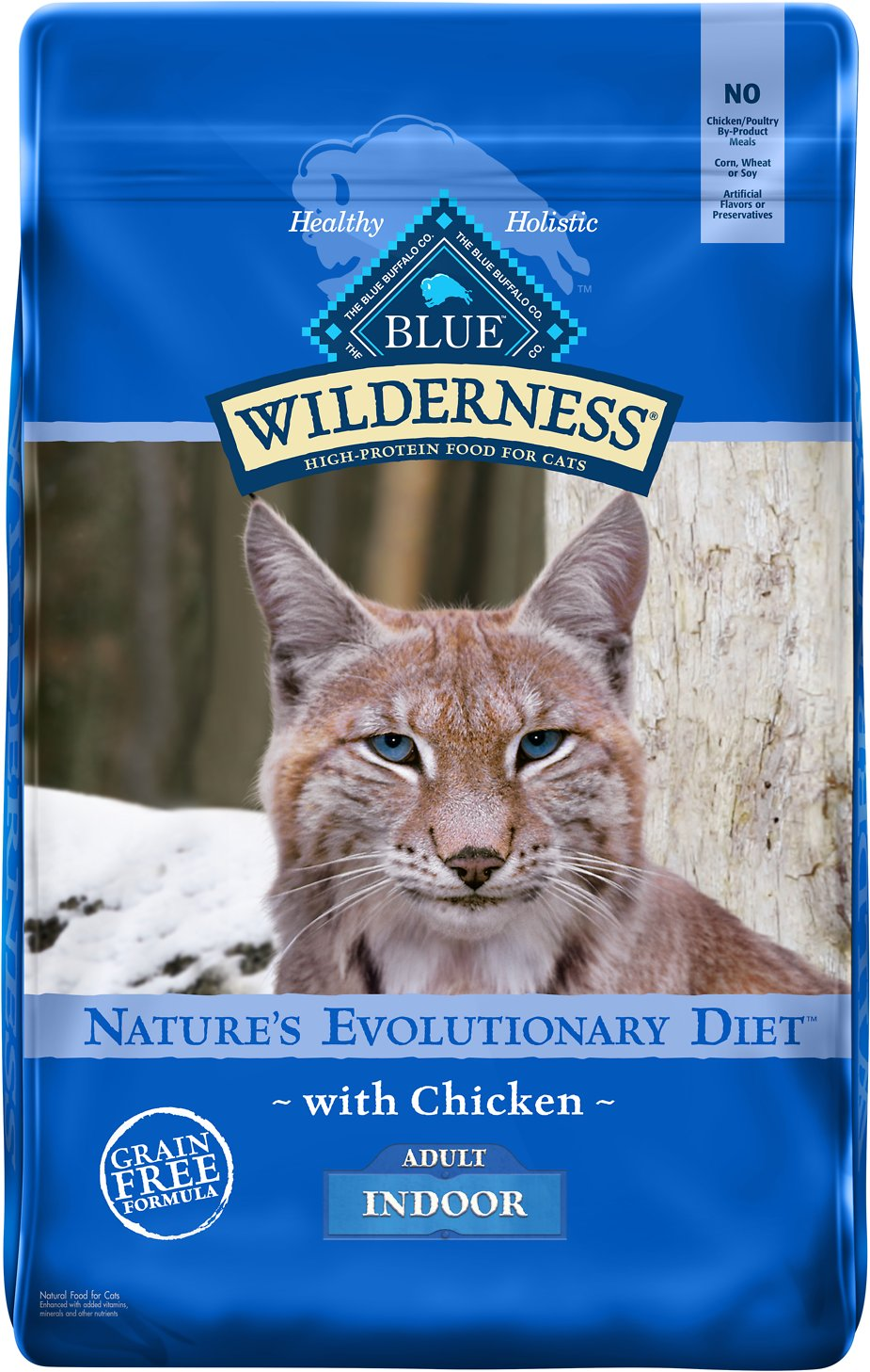 Blue Buffalo Wilderness Indoor Chicken Recipe Grain Free Dry Cat