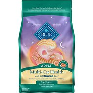 Blue Buffalo Multi-Cat Health Chicken & Turkey Recipe Adult Dry Cat Food, 7-lb bag