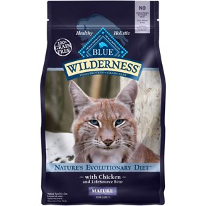 Blue Buffalo Wilderness Mature Chicken Recipe Grain-Free Dry Cat Food