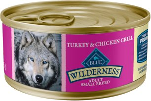 7. Blue Buffalo Wilderness Grain-Free Turkey & Chicken Grill for Small Breeds