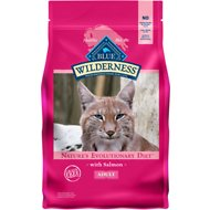 Blue Buffalo Wilderness Salmon Recipe Grain-Free Dry Cat Food, 5-lb bag