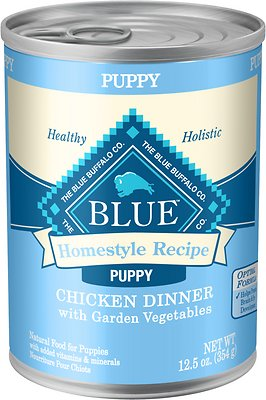 6. Blue Buffalo Homestyle Recipe Puppy Chicken Dinner with Garden Vegetables Canned Dog Food
