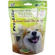 PetzLife Complete Treats Natural Dental Chew for Dogs, Small/Medium Breed, 8-oz bag