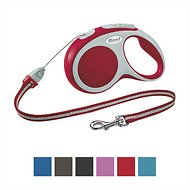 Flexi Vario Retractable Cord Dog Leash, Red, Small, 16-ft