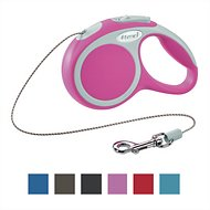 Flexi Vario Retractable Cord Dog Leash, Pink, X-Small, 10-ft