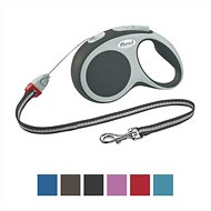 Flexi Vario Retractable Cord Dog Leash, Granite, Small, 26-ft