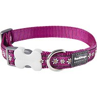 Red Dingo Designer Daisy Chain Dog Collar, Purple, Medium