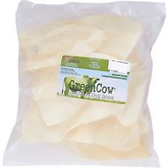 Green Cow Rawhide Natural Chips Dog Bones, 10 count