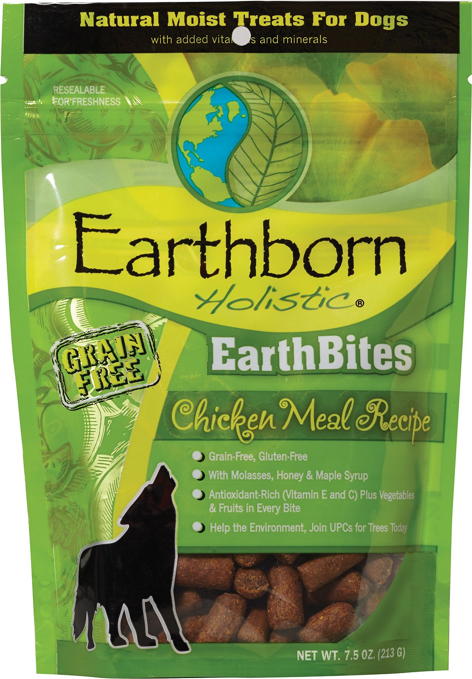 Earthborn Holistic Earthbites Chicken Meal Recipe Natural Moist