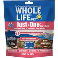 Whole Life Just One Ingredient Pure Salmon Fillet Freeze-Dried Dog & Cat Treats, 8-oz bag