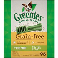 Greenies Grain-Free Teenie Dental Dog Treats, 27-oz box