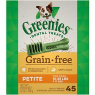 Greenies Grain-Free Petite Dental Dog Treats, 27-oz box