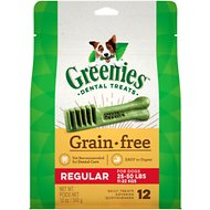 Greenies Grain-Free Regular Dental Dog Treats, 12 count