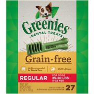 Greenies Grain-Free Regular Dental Dog Treats, 27 count
