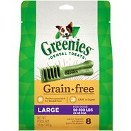 Greenies Grain-Free Large Dental Dog Treats, 8 count