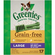 Greenies Grain-Free Large Dental Dog Treats, 17 count