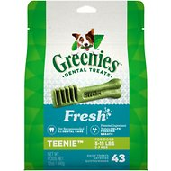 Greenies Fresh Teenie Dental Dog Treats, 43 count