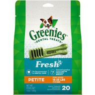 Greenies Fresh Petite Dental Dog Treats, 20 count