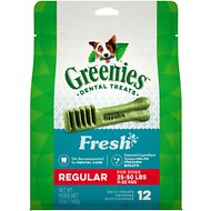 Greenies Fresh Regular Dental Dog Treats, 12 count