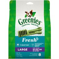 Greenies Fresh Large Dental Dog Treats, 8 count