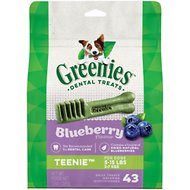 Greenies Bursting Blueberry Teenie Dental Dog Treats, 43 count