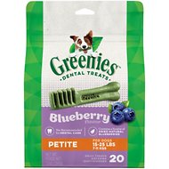 Greenies Bursting Blueberry Petite Dental Dog Treats, 20 count