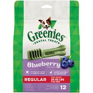 Greenies Bursting Blueberry Regular Dental Dog Treats, 12 count