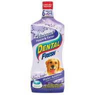 Dental Fresh Advanced Plaque & Tartar Water Additive for Dogs, 32-oz bottle