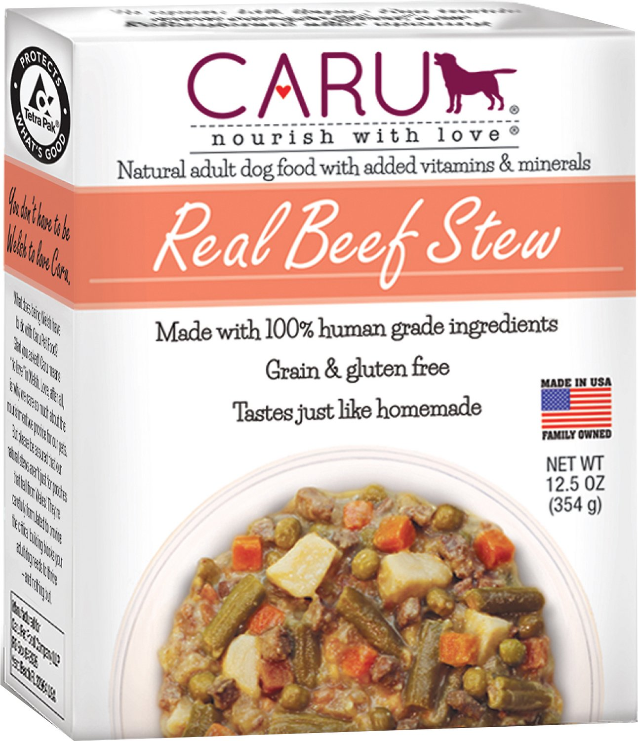 Caru Real Beef Stew Grain-Free Wet Dog Food, 12 5-oz, case of 12