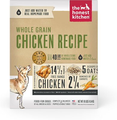 The Honest Kitchen Whole Grain Chicken Recipe Dehydrated Dog Food 10 Lb Box Chewy Com
