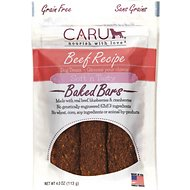 Caru Soft 'n Tasty Baked Bars Beef Recipe Grain-Free Dog Treats, 4-oz bag