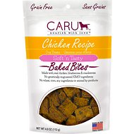Caru Soft 'n Tasty Baked Bites Chicken Recipe Grain-Free Dog Treats, 4-oz bag