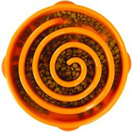 Outward Hound Fun Feeder Interactive Dog Bowl, Orange, Regular