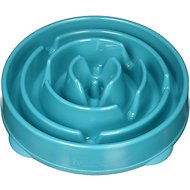 Outward Hound Fun Feeder Interactive Dog Bowl, Teal, Regular