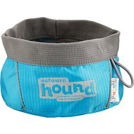 Outward Hound Port-A-Bowl Pet Bowl, Blue, 24-oz