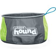 Outward Hound Port-A-Bowl Pet Bowl, Green, 48-oz