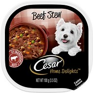 Cesar Home Delights Beef Stew Dog Food Trays, 3.5-oz, case of 24