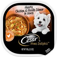 Cesar Home Delights  Hearty Chicken Noodle Dog Food Trays, 3.5-oz, case of 24