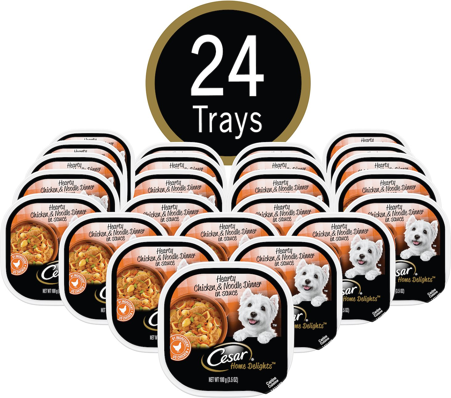 Cesar home delights hearty chicken noodle dog food trays 35 oz video forumfinder Gallery