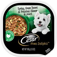 Cesar Home Delights Turkey, Green Beans, & Potatoes Dog Food Trays, 3.5-oz, case of 24