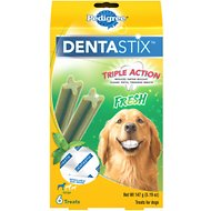 Pedigree Dentastix Large Fresh Dog Treats, 6-count